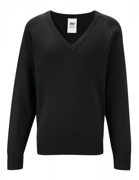 Knitted V-neck Sweatshirt