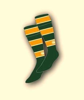 Selkirk High School Hockey Hooped Socks