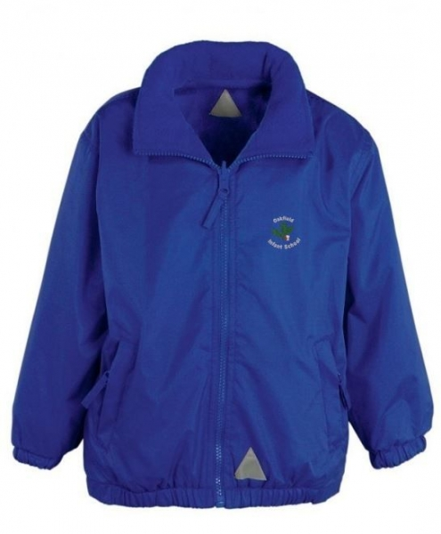 OAKFIELD INFANT SCHOOL LIGHTWEIGHT REVERSIBLE JACKET WITH NAME