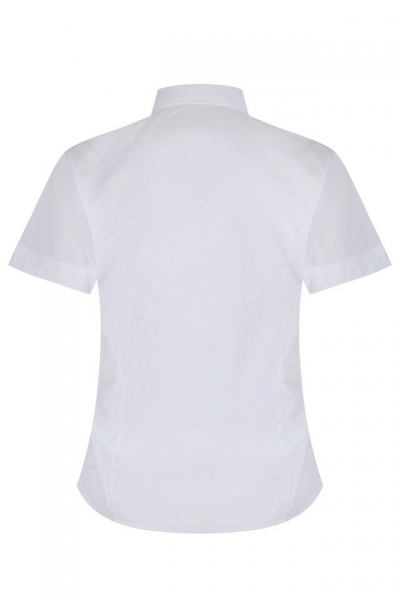 NON IRON SHORT SLEEVE FITTED BLOUSE - TWIN PACK