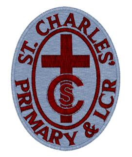 ST CHARLES PS & LCR BLAZER BADGE