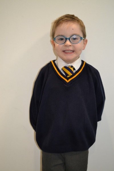 ST PETERS PRIMARY SCHOOL KNITTED V-NECK JUMPER