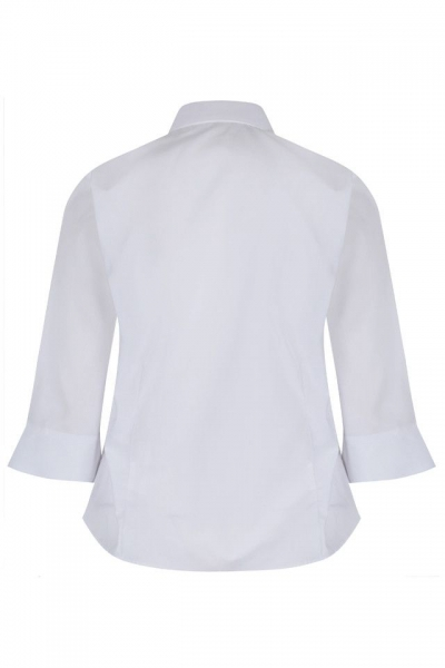 FITTED NON IRON BLOUSE WITH 3/4 SLEEVE - TWIN PACK