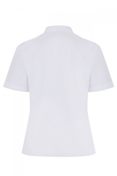 NON IRON SHORT SLEEVE POLYCOTTON BLOUSE - TWIN PACK - WHITE