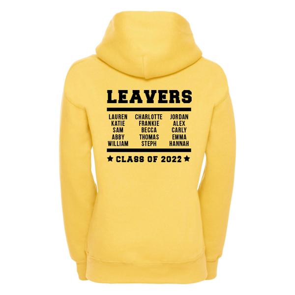 Leavers Hoodie Back Design 10
